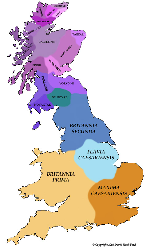 Map of 4th Century Britain - © Nash Ford Publishing