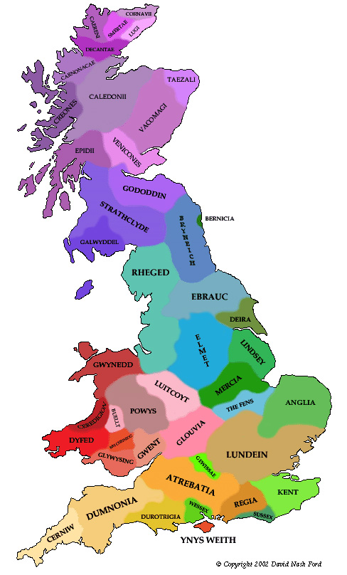 EBK Map of Britain in AD 500