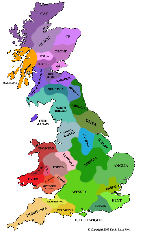 Map of Britain at the ...